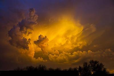 Paint The Sky In Shades Of Gold  Poster by Saija  Lehtonen