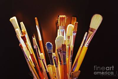 Paintbrushes Poster by AmaS Art