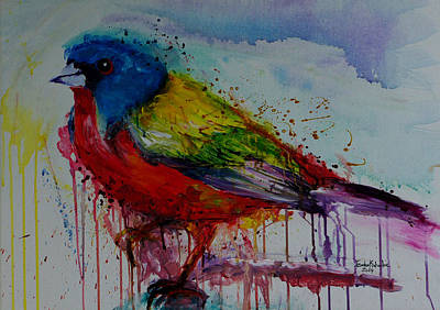 Painted Bunting Poster by Isabel Salvador