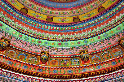 Painted Ceiling Of Shree Laxmi Narihan Poster by Inger Hogstrom