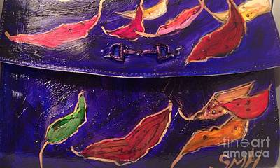 Painted Clutch Purse Titled Fallen Into Place Poster