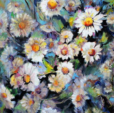 Painted Daisy Poster by Jodie Marie Anne Richardson Traugott          aka jm-ART