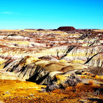 Painted Desert In Petrified Forest National Park Vivid Square Poster