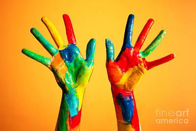 Painted Hands Poster by Michal Bednarek