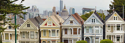 Painted Ladies Row Houses By Alamo Square Poster by Jit Lim