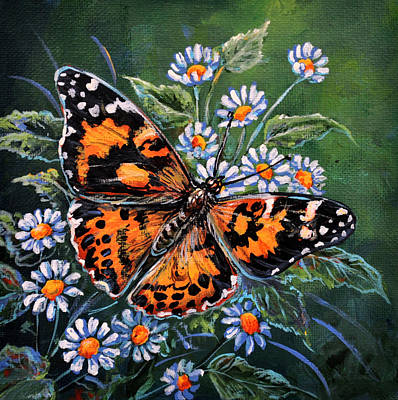 Painted Lady Poster by Gail Butler