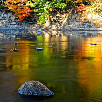 Painted River Poster by Frozen in Time Fine Art Photography