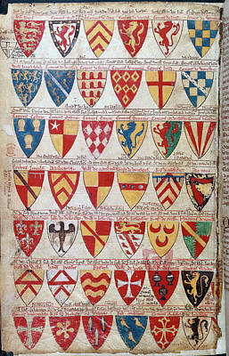 Painted Shields Of Arms Poster by British Library