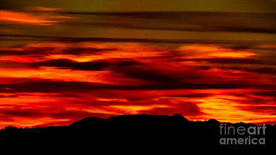 Poster featuring the photograph Painted Sky 34 by Mark Myhaver