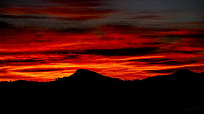 Poster featuring the photograph Painted Sky 45 by Mark Myhaver