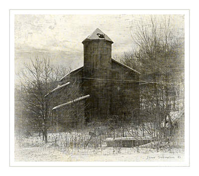 Painterly Old Barn Poster