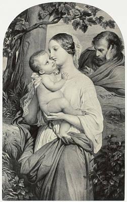 Painting By Paul Delaroche, La Vierge A La Vigne Poster by Artokoloro