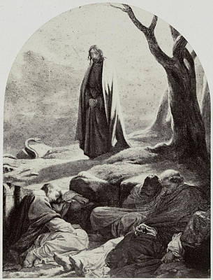 Painting By Paul Delaroche Le Christ And Gethsemane Poster by Artokoloro