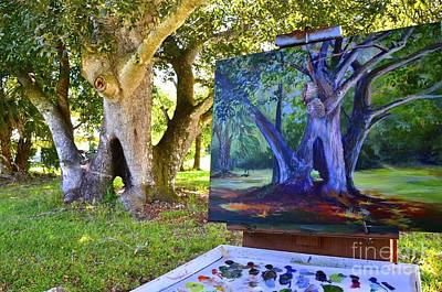 Painting Hickory Hole Poster