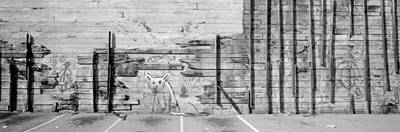 Painting Of A Dog On A Wall, San Poster by Panoramic Images