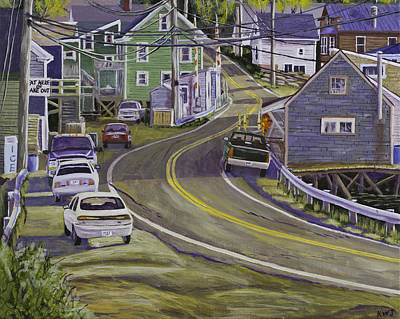 Main Street South Bristol Maine Poster by Keith Webber Jr