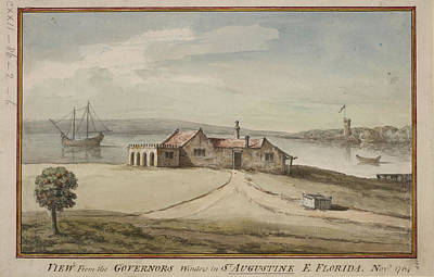 Painting Of View From Florida Governor's Poster by British Library
