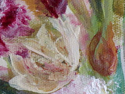 Poster featuring the painting Painting Soft Flowers 2 by France Laliberte