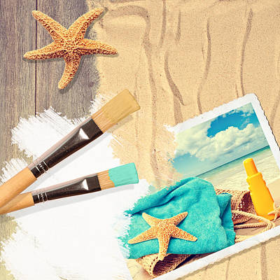 Painting Summer Postcard Poster by Amanda Elwell