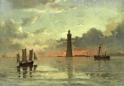 Painting Sunrise C Poster