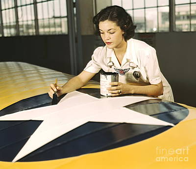 Painting Wing Insignia 1942 Poster