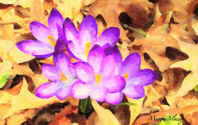 Paintography Of Spring Crocus Poster