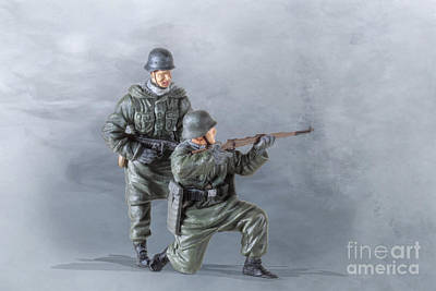 Pair Of Panzer Grenadiers Poster by Randy Steele