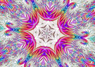 Paisley Love Kaleidoscope Poster
