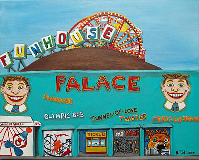 Palace Amusements II Poster by Norma Tolliver