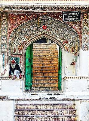 Palace Caretaker Sisodia Jaipur Rajasthan India Poster by Sue Jacobi