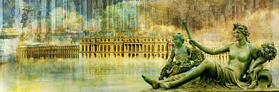 Palace Of Versailles Poster by Catf