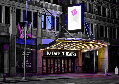Palace Theater Cleveland Ohio Poster by Frozen in Time Fine Art Photography