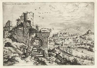 Palatine At The Baths Of Caracalla, Print Maker Hieronymus Poster