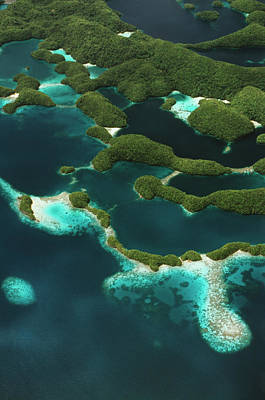 Palau, Micronesia, Rock Islands, Aerial Poster by Stuart Westmorland