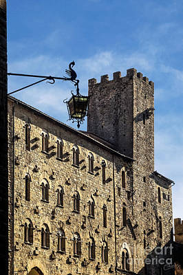Palazzo Pretorio And The Tower Of Little Pig Poster by Prints of Italy