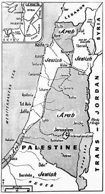 Palestine State Proposal Poster by Underwood Archives