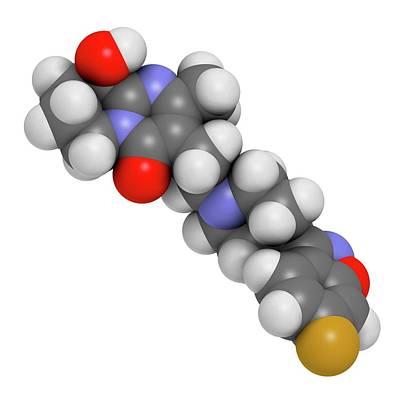 Paliperidone Drug Molecule Poster by Molekuul