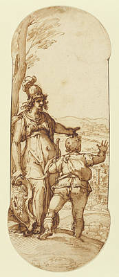 Pallas Athena Shows Taddeo The Prospect Of Rome Federico Poster by Litz Collection