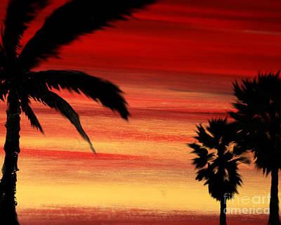 Palm Set Poster by Ryan Burton