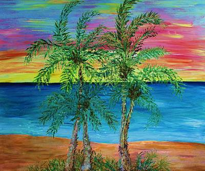 Palm Trees Poster by Janet Immordino