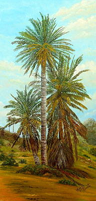 Palm Trees Poster by Angeles M Pomata