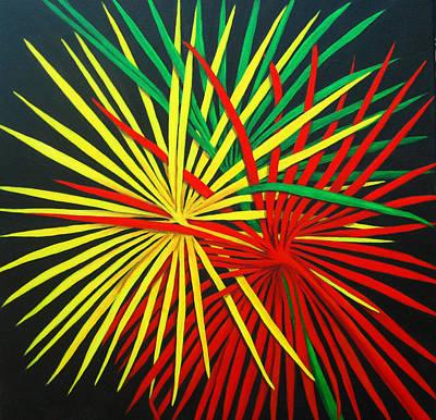Palms Bursting Poster