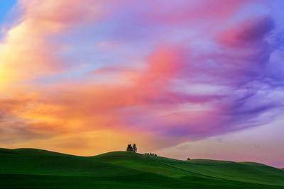 Palouse Cirrus Rainbow Poster