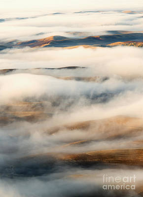 Palouse Fog Clears Poster by Mike Dawson