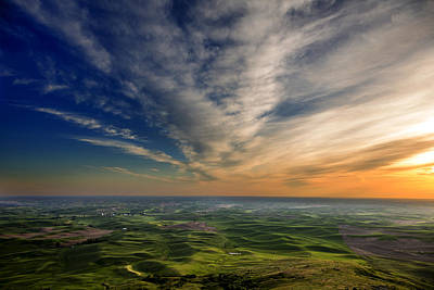 Palouse Sunset Poster by Mary Jo Allen