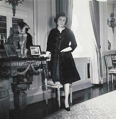 Pamela Harriman With Her Hand In The Pocket Poster by Horst P. Horst