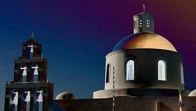 The Church Of Panagia Of Platsani Poster by Mark J Dunn