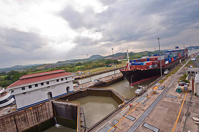 Panama Canal Miraflores Locks Poster