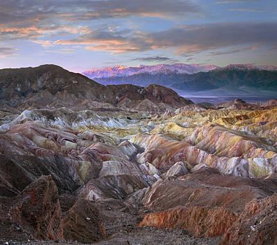Panamint Range From Zabriskie Point Poster