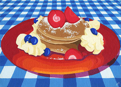 Poster featuring the painting Pancakes Week 10 by Meg Shearer